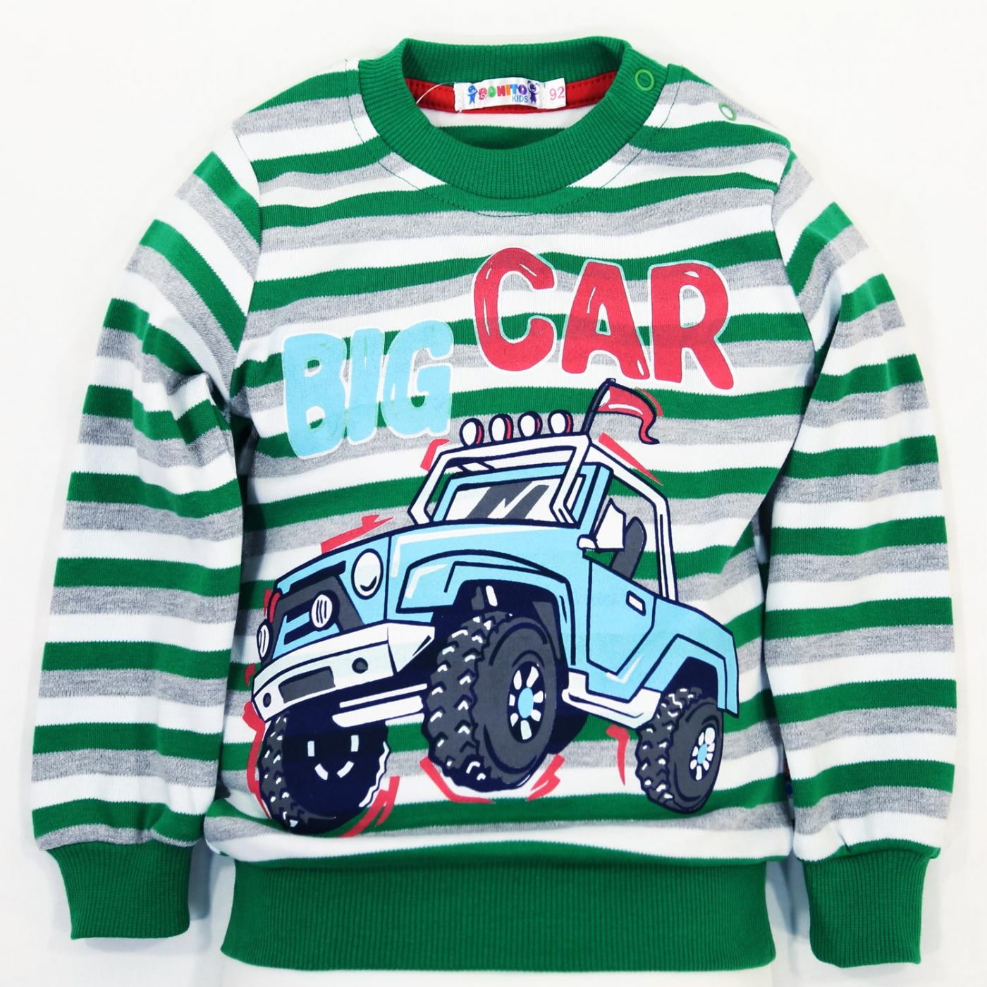 """Джемпер в полоску Bonito kids """"Big Car"""""""