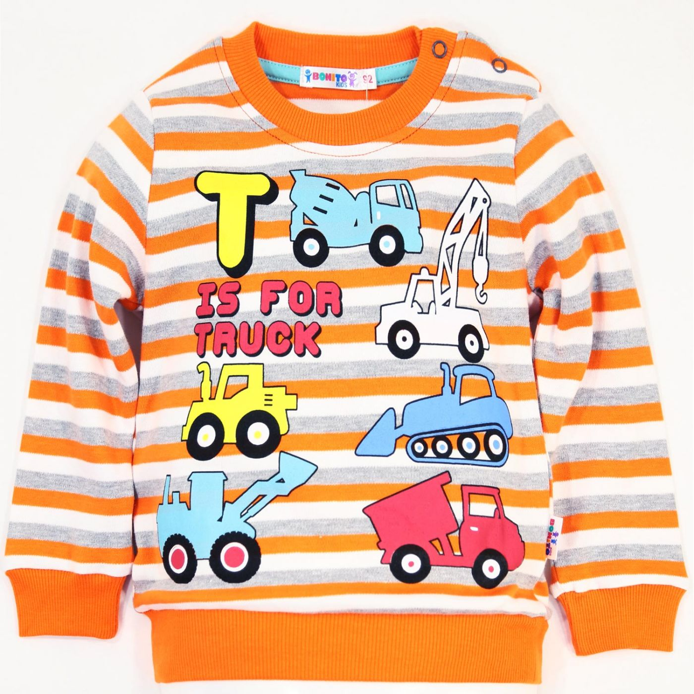 "Джемпер в полоску Bonito kids ""Is for Truck"""
