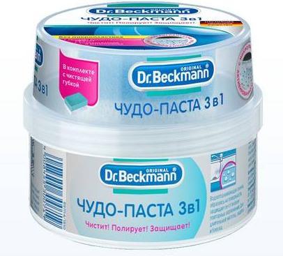 Dr.Beckmann Чудо-паста 3 в 1 Чистка, полировка, защита с губкой, 400 гр.