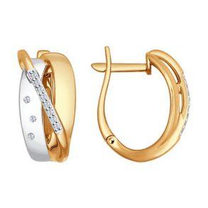 Серьги из золота с бриллиантами 1021100 SOKOLOV