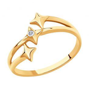 Кольцо из золота с бриллиантом 1011970-5 SKLV