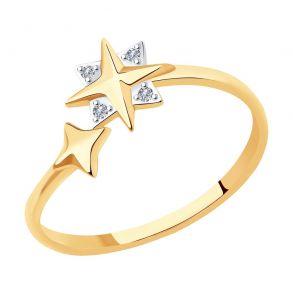 Кольцо из золота с бриллиантами 1011971-5 SKLV