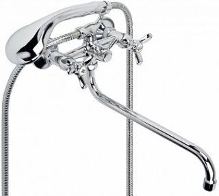 """Смеситель для ванны и умывальника OMEGA, 1/2"""", кер., картриджный, труб. излив 310 мм,"""