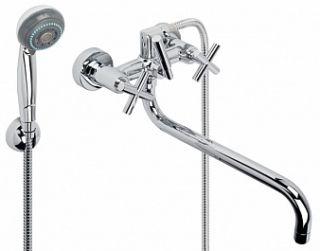"""Смеситель для ванны и умывальника YORK, 1/2"""", кер., картридж., труб. излив 325 мм,"""