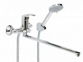 Смеситель для ванны и умывальника OKSA, d-35, керамбукса, L-обр. излив 375 мм,