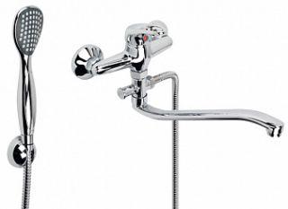 Смеситель для ванны и умывальника YOUNG, d-35, штоковый, S-обр. излив 295 мм,