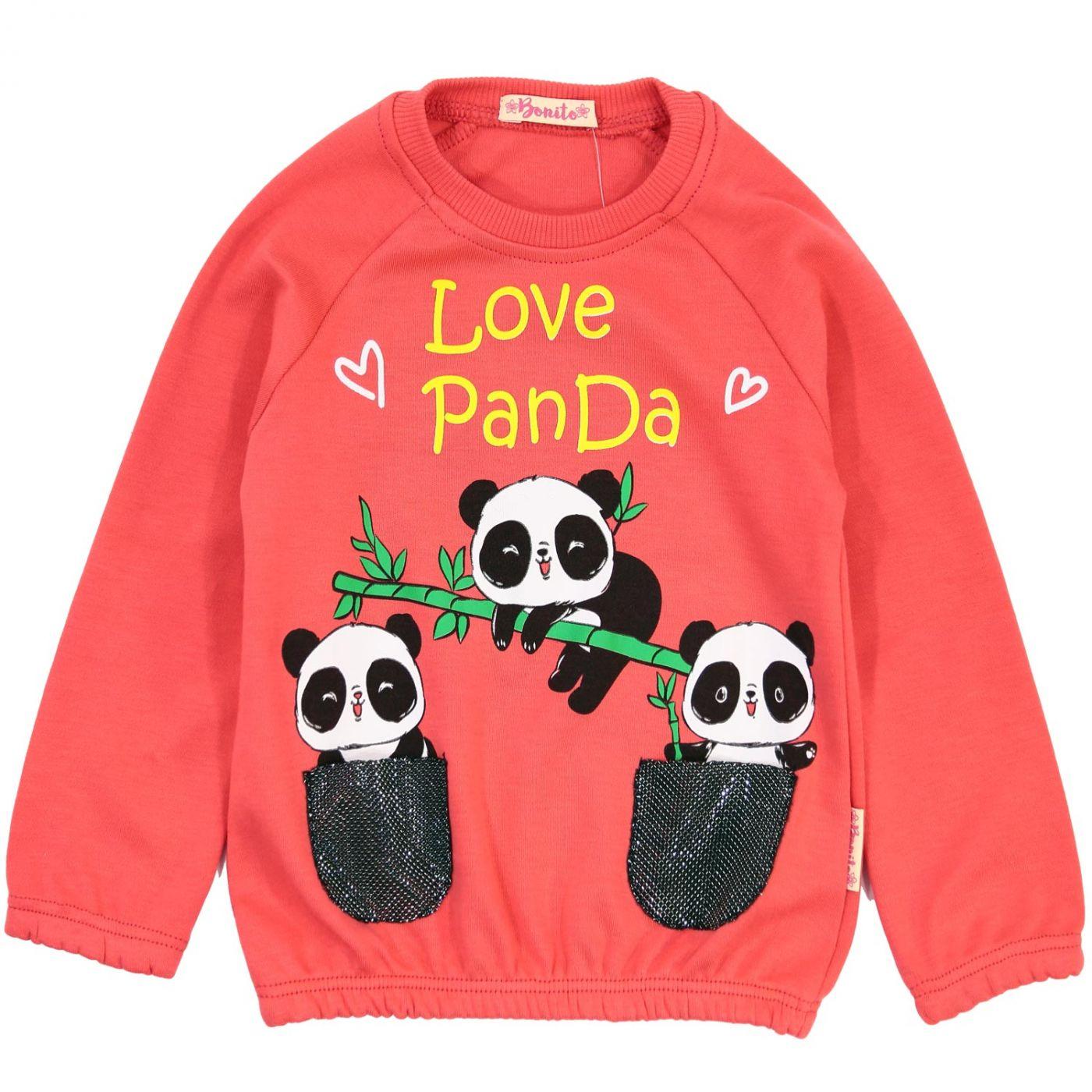 "Кофта для девочек Bonito ""Love Panda"""