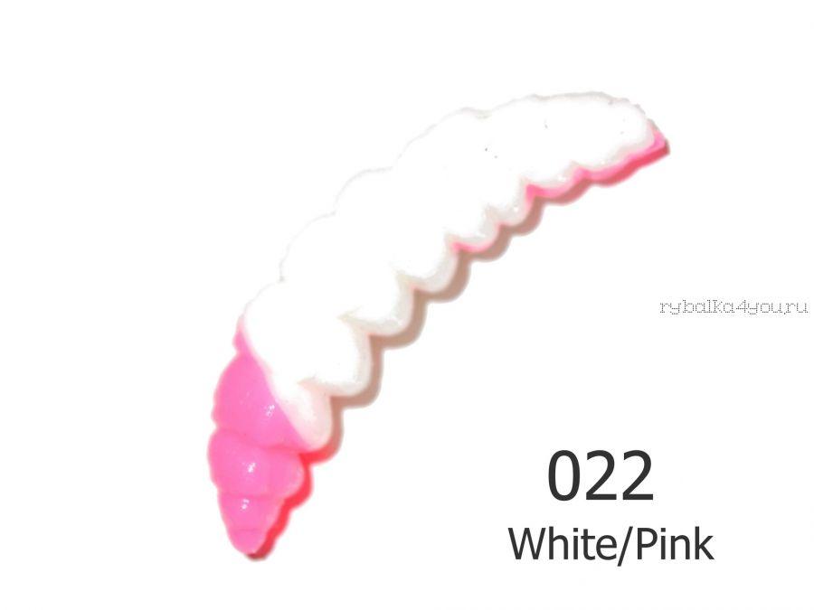Мягкая приманка Red Machine Личинка 35 мм / упаковка 10 шт / аттракант: сыр / цвет: 022 White/Pink