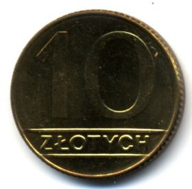 Польша 10 злотых 1990 UNC