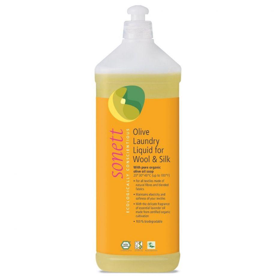 Sonett Жидкое средство для стирки изделий из шерсти и шелка на основе оливкового масла, 1 л