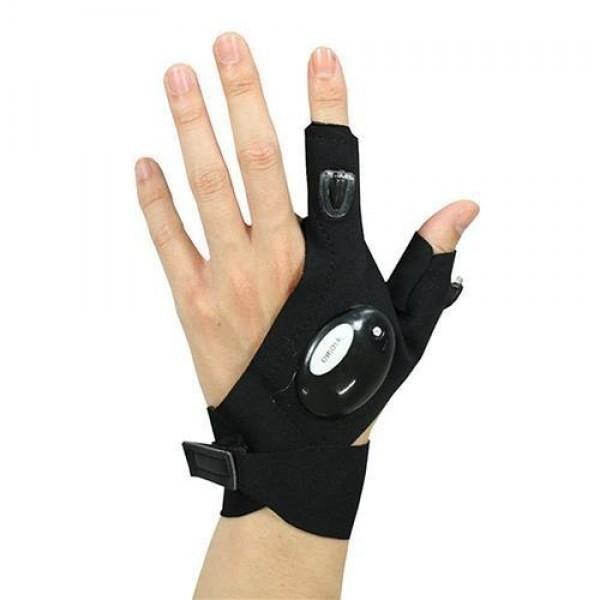 Перчатки с подсветкой (для рыбалки, ремонта, или детям)