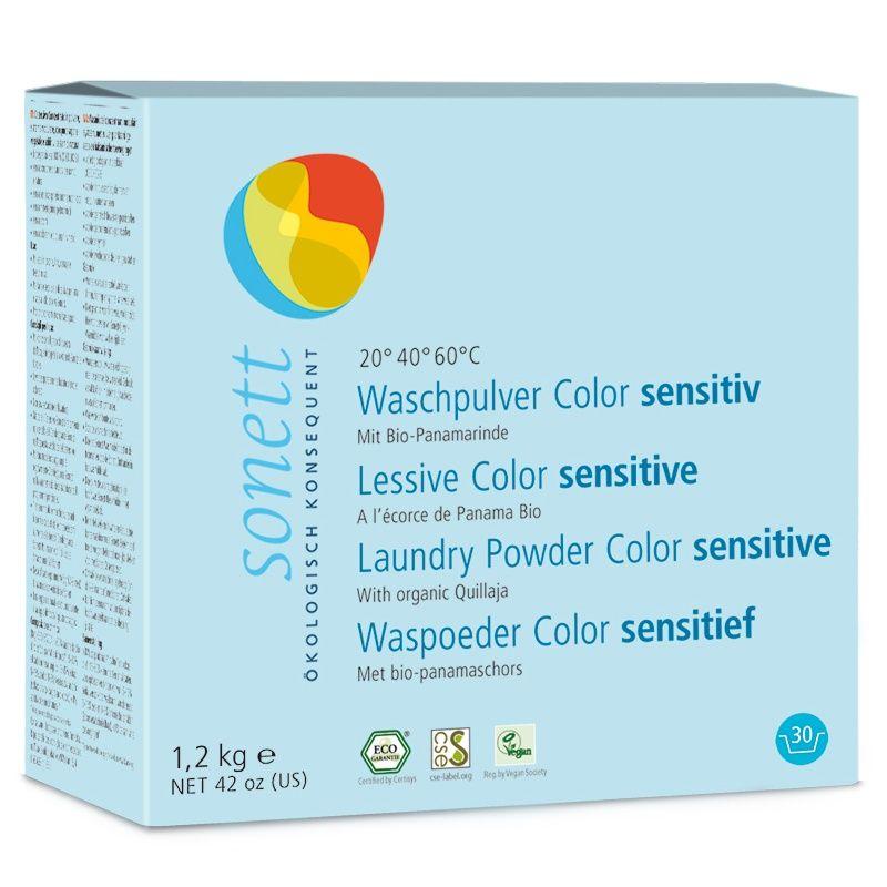 Sonett Стиральный порошок для цветных тканей Sensitive для чувствительной кожи 1,2 кг