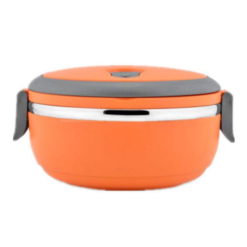 Ланч-Бокс Из Нержавеющей Стали 700 мл (цвет оранжевый)