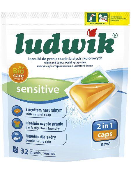 Ludwik Гелевые капсулы для стирки цветных и белых тканей 2 in 1 Sensitive, 32 шт