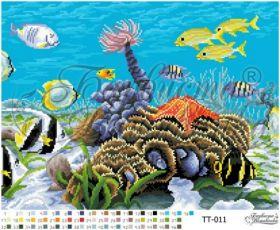 ТТ011 Барвиста Вышиванка. Подводный Мир. А3+ (набор 2550 рублей)