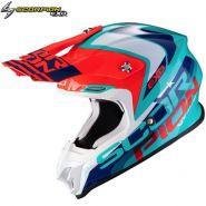 Шлем Scorpion VX-16 Air Nation, Зелёно-сине-красный