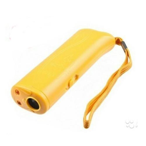 Ультразвуковой отпугиватель собак с функцией тренировки, цвет - жёлтый.