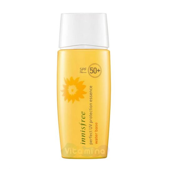 Innisfree Освежающая увлажняющая солнцезащитная эссенция Perfect UV Protection Essence Water Base SPF 50+/PA+++, 50 мл