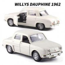 Металлическая модель автомобиля Willys Dauphine  масштаб 1:38