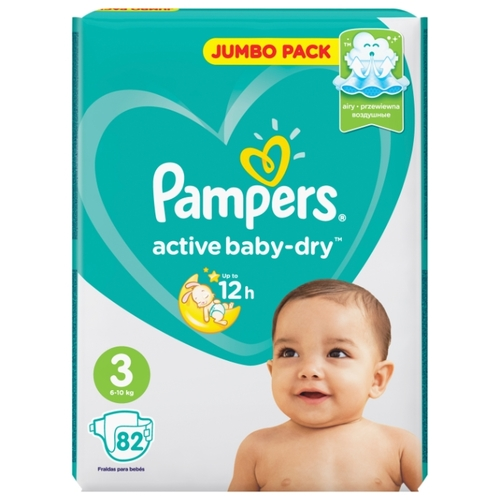 "Pampers ""Active baby-Dry 3"" 82шт"