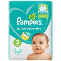 "Pampers ""Active baby-Dry 3"" 22 шт."