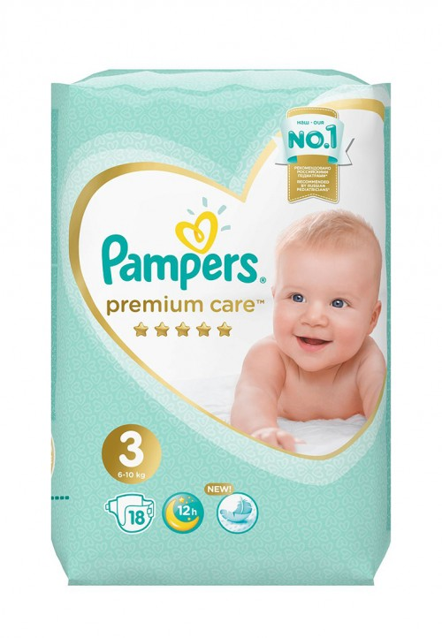 "Pampers ""Premium Care 3"" 18 шт."