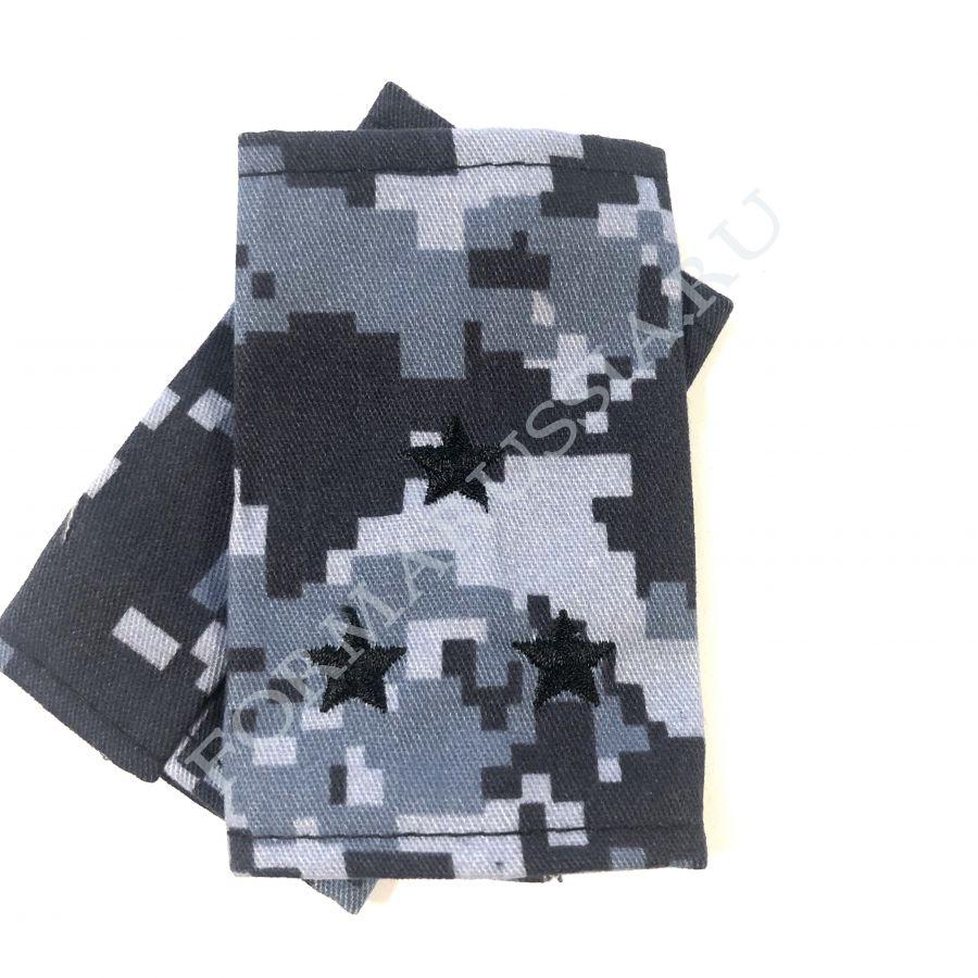 Фальш-погоны старший лейтенант синяя точка