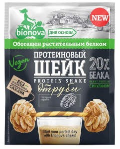 БИОНОВА Шейк протеиновый с отрубями 25 г