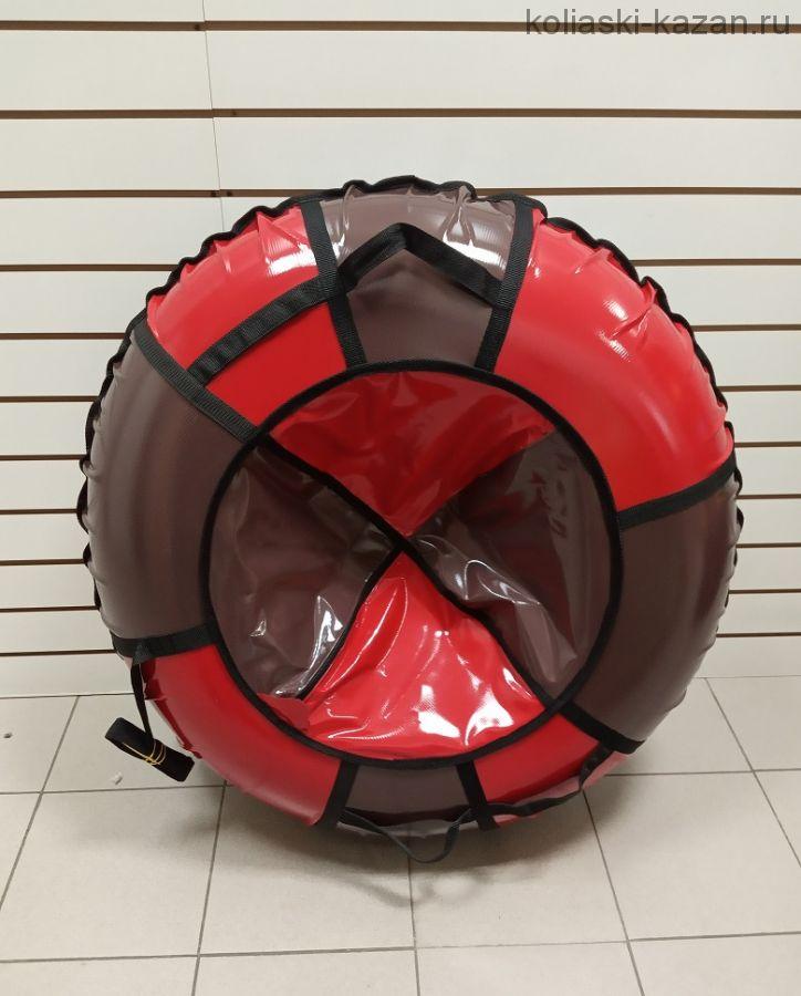 Тюбинги 110 см ПВХ взрослым и детям коричнево красные (4 ручки)