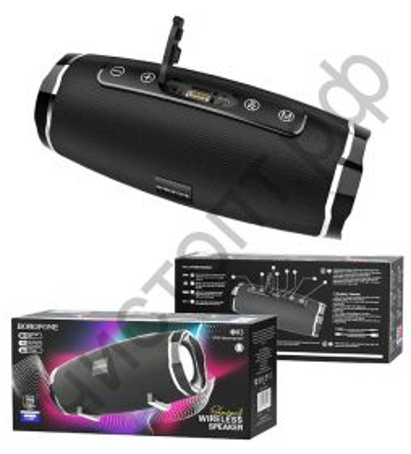 Колонка универс.с радио Borofone BR3 microSD BT 5.0 черный