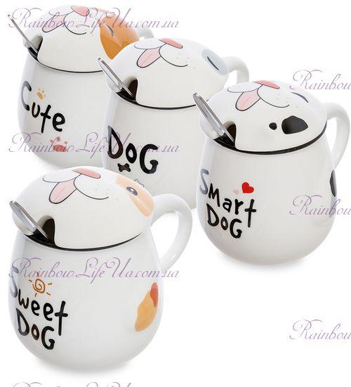 """Чашка с крышкой и ложкой """"Dog"""""""