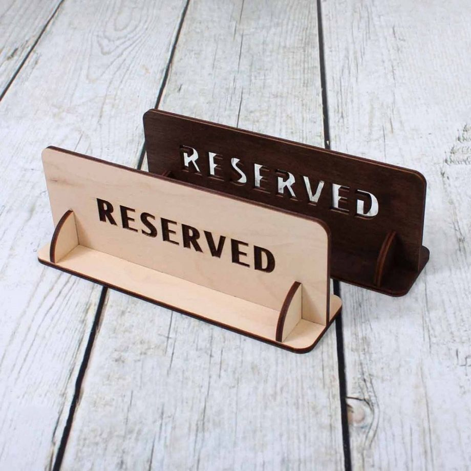 Табличка резерв с подставкой