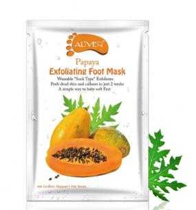 Пилинг носочки для кожи стоп Aliver с экстрактом папайи.(69860)
