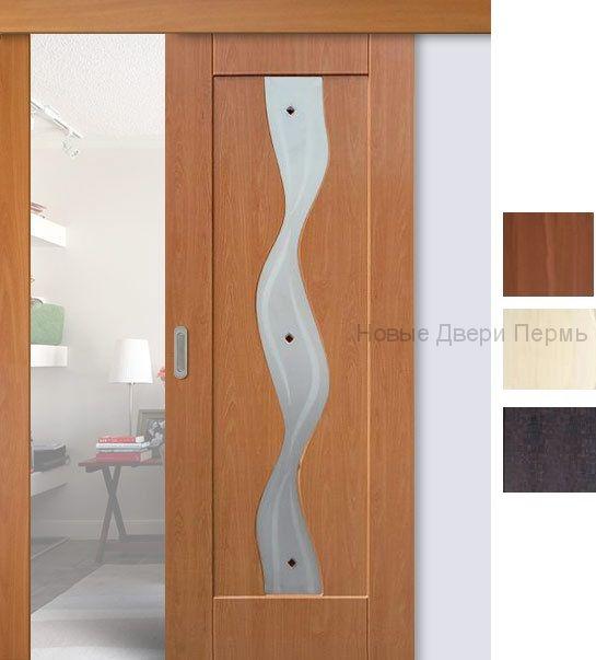 Раздвижная дверь Вираж ДГ с ПВХ покрытием