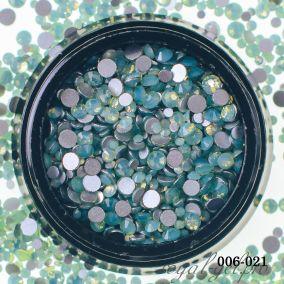 Стразы Hanami Опал зелёный, Микс рр 720 шт.
