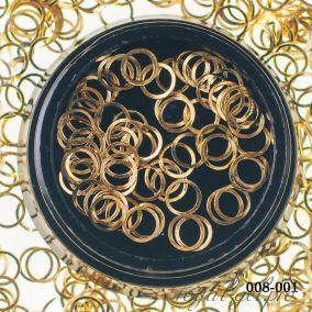 Металлический дизайн Hanami Кольцо, золото 2 гр.