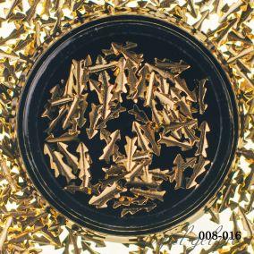 Металлический дизайн Hanami 3D Стрела, золото 2 гр.
