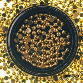 Металлический дизайн Hanami Бусина полусфера, золото, 2,5мм 2 гр.