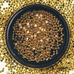 Металлический дизайн Hanami Бусина полусфера, золото, 1,5мм 2 гр.