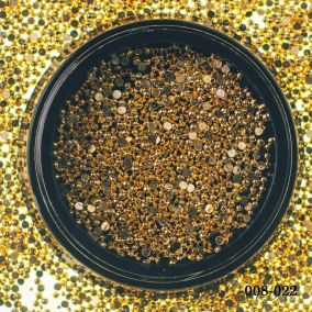 Металлический дизайн Hanami Бусина полусфера, золото, 1мм 2 гр.