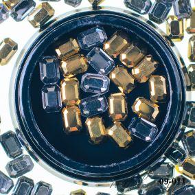 Кристалл золото АВ прямоугольник 6*4 мм 20 шт.