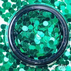 Камифубики Hanami Кружки, зелёный, 3мм