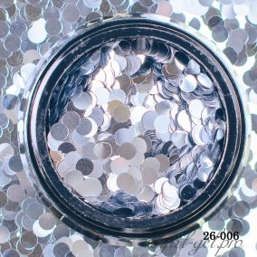 Камифубики Hanami Кружки, серебро, 3мм
