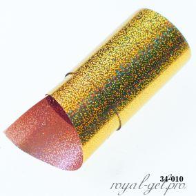 Фольга для литья Hanami голографическая, Песок, золото 1м.