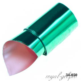 Фольга для литья Hanami глянцевая, зелёный 1м.