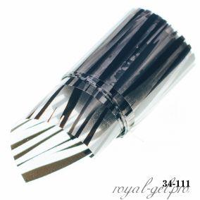 Фольга для литья Hanami Зебра, чёрный 1м.