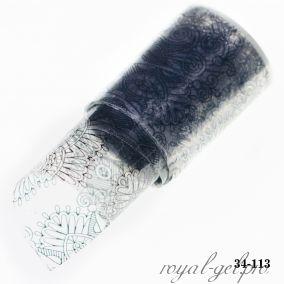 Фольга для литья Hanami Цветочное этно, чёрный 1м.