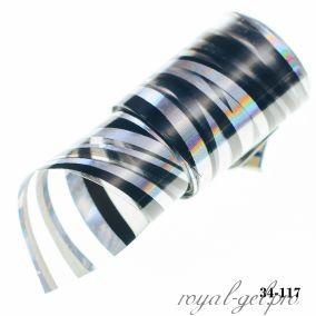 Фольга для литья Hanami голографическая, Волны, чёрный 1м.