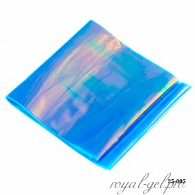 Фольга Битое стекло Hanami, голубой хамелеон 1м.