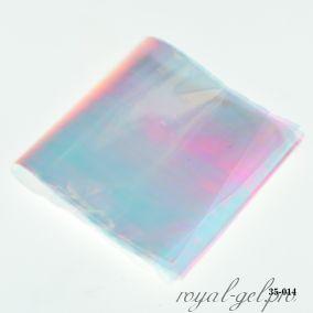 Фольга Битое стекло Hanami, светло-розовый хамелеон 1м.